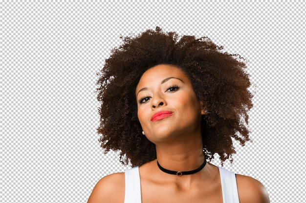 Porträt einer jungen schwarzen frau