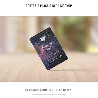 Porträt-plastikkarten-modell