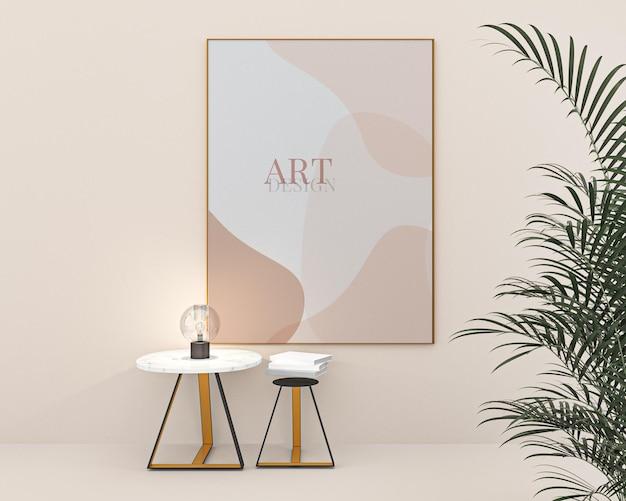 Porträtfotorahmen mockup-kunstdesign