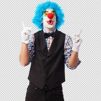 Portrait eines clownlächelns
