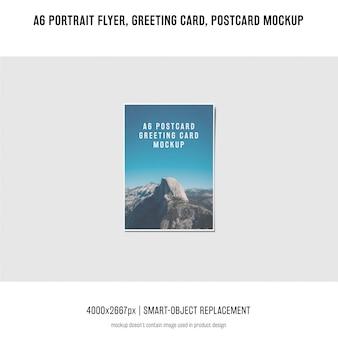 Portrait-flyer, postkarte, grußkartenmodell