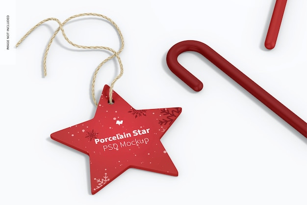 Porzellan stern ornament mockup