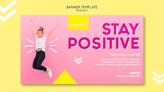 Positivismus-banner-vorlage