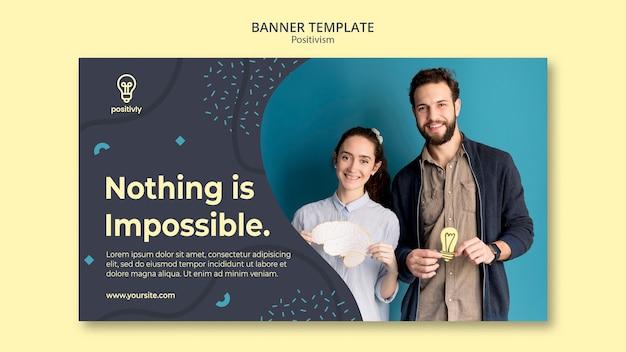 Positivismus-konzept-banner-design