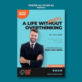 Positivismus-konzept-flyer-vorlage