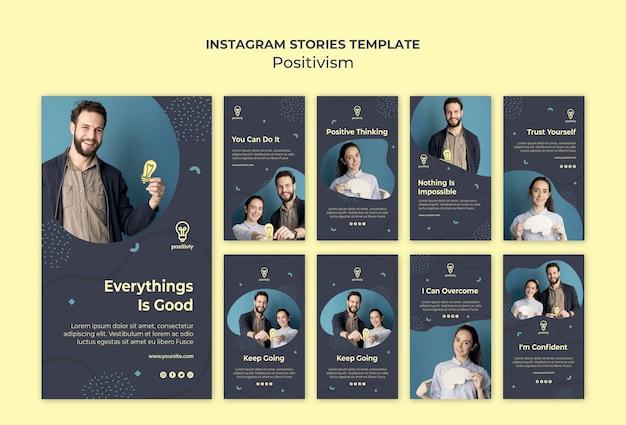 Positivismus konzept instagram geschichten