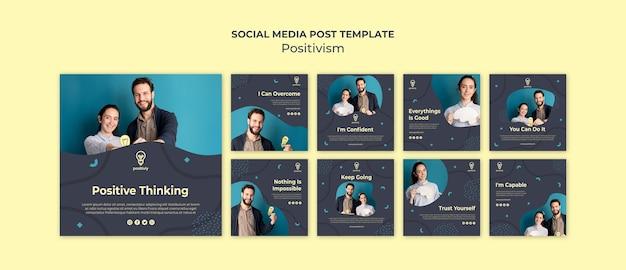 Positivismus-konzept social media post