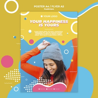 Positivismus-konzeptplakatdesign