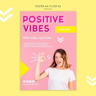 Positivismus-plakatschablone