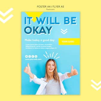 Positivismus poster vorlage thema