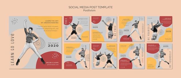 Positivismus social media post vorlage