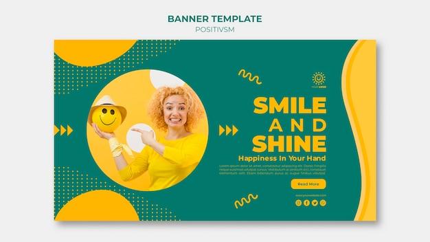 Positivismus-vorlage für banner-design