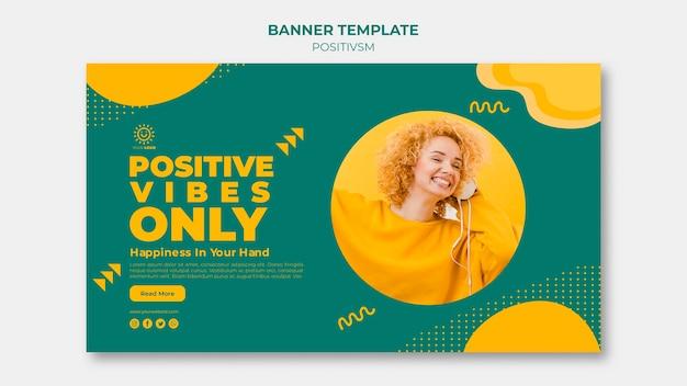 Positivismus-vorlage für banner