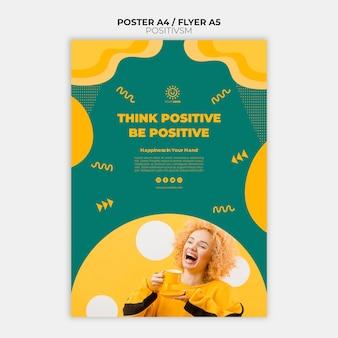 Positivismus-vorlage für plakatgestaltung