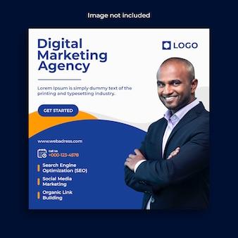 Post-banner-vorlage für digitales marketing für soziale medien Premium PSD