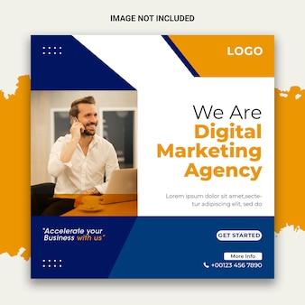 Post für kreatives marketing in den sozialen medien