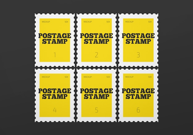 Post stamp mockup