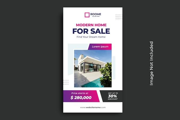 Post-vorlage für soziale medien in immobilien