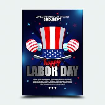Poster 3. september internationaler tag der arbeit usa