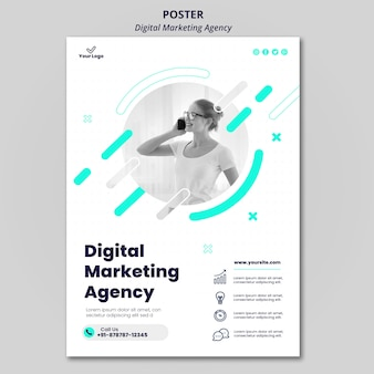Poster der agentur für digitales marketing