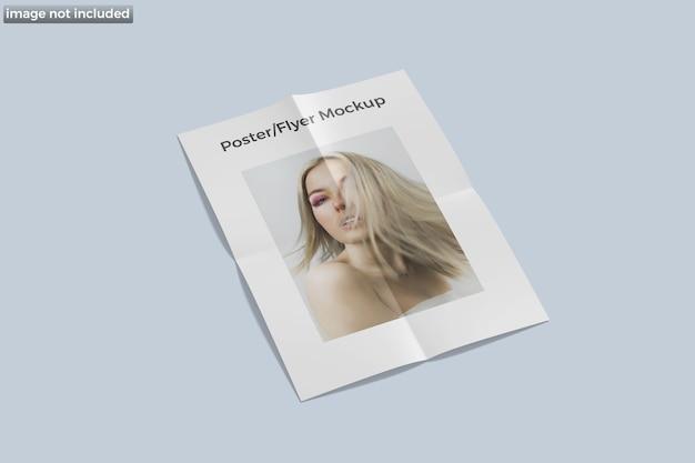 Poster flyer modell isoliert isoliert