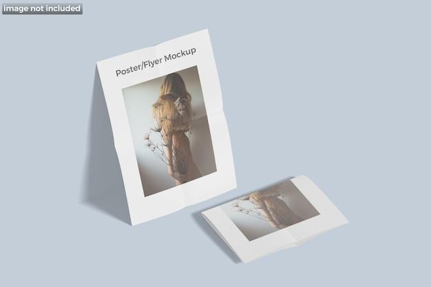 Poster flyer modell isoliert