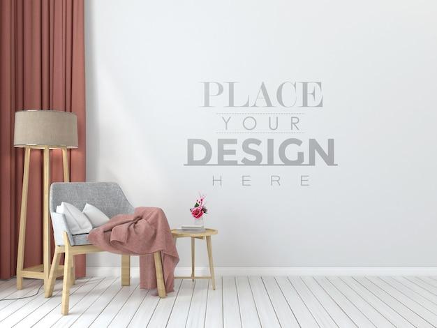 Poster frame mockup interieur in einem schlafzimmer