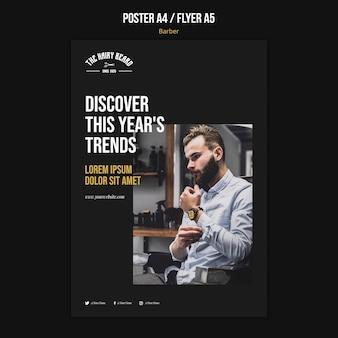 Poster friseur shop vorlage