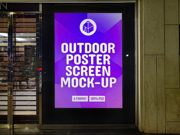 Poster im freien