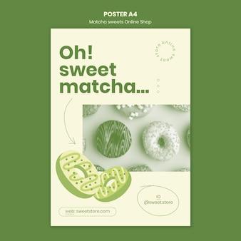 Poster matcha süßigkeiten vorlage