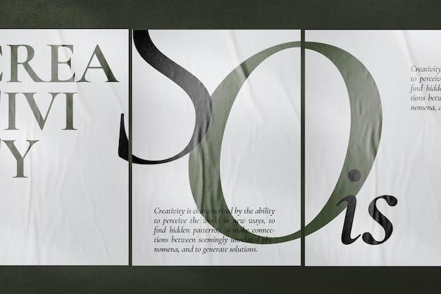 Poster mockup psd an einer betonwand