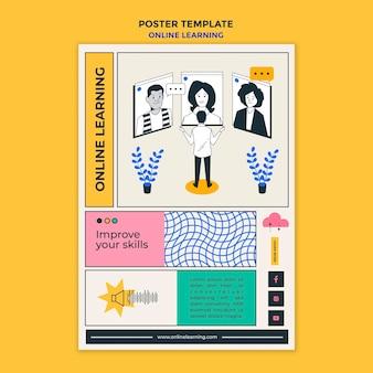 Poster online-lernanzeigenvorlage