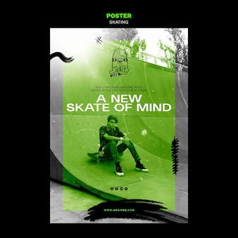 Poster-skating-anzeigenvorlage