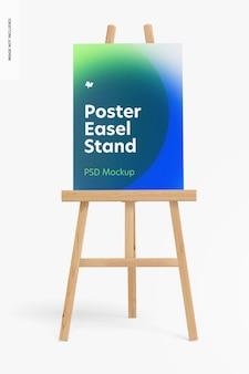 Poster staffelei stand mockup vorderansicht