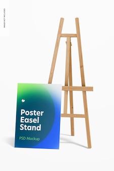Poster staffelei stand mockup
