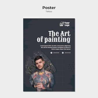 Poster tätowierer vorlage