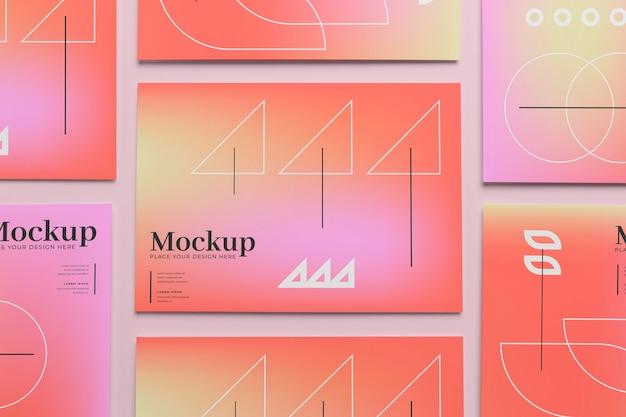 Poster- und flyer-mockup-design
