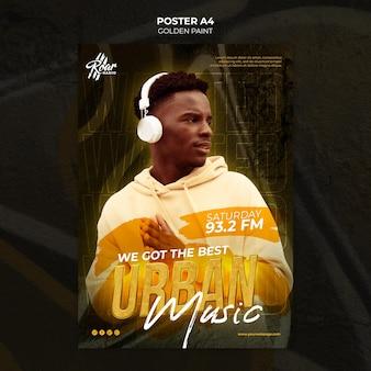Poster urban music design-vorlage