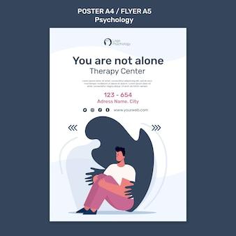 Poster-vorlage des therapiezentrums