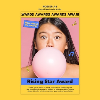 Poster-vorlage für den rising star award