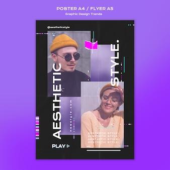 Poster-vorlage für grafikdesign-trends