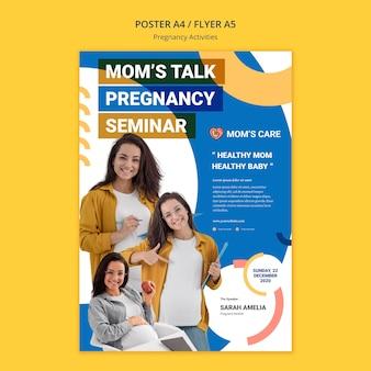 Poster-vorlage für schwangerschaftsaktivitäten