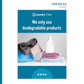 Poster wäscheservice vorlage