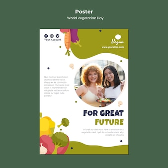 Poster zum weltvegetariertag