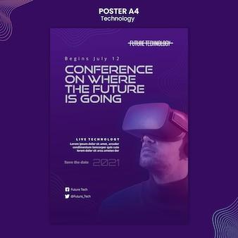 Postervorlage für die virtuelle realität
