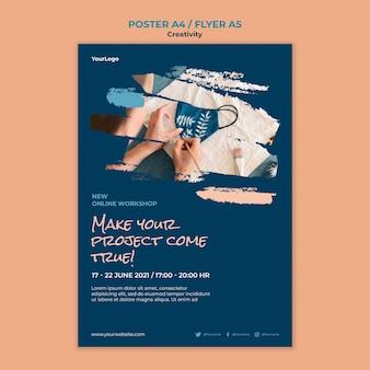 Postervorlage für kreativitätsworkshops