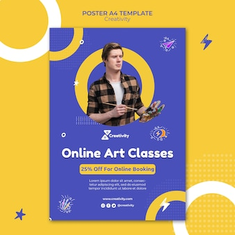 Postervorlage für online-kunstkurse