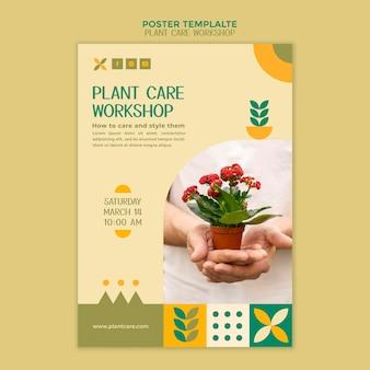 Postervorlage für pflanzenpflege-workshops