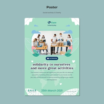 Postervorlage für soziale aktivitäten