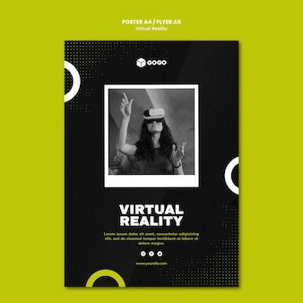 Postervorlage für virtuelle realität